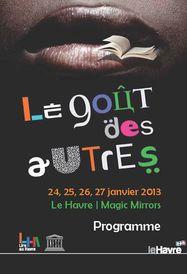Programme Festival littéraire Le Goût des Autres 2013