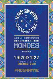 Programme Festival littéraire Le Goût des Autres 2017